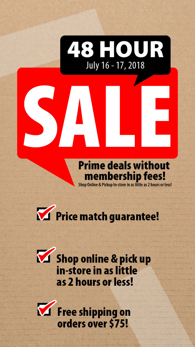 48 Hour Sale. Prime deals without membership fees! July 16-17, 2018.